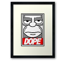 Dope - The Simpsons Framed Print