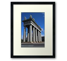 View of the Triumphal Arch in St. Petersburg Framed Print
