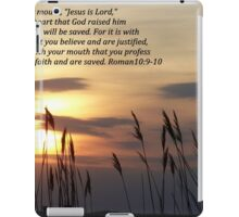 Romans 10:9-10 iPad Case/Skin
