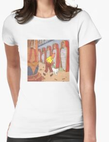 tintin and the pharaoh Womens Fitted T-Shirt