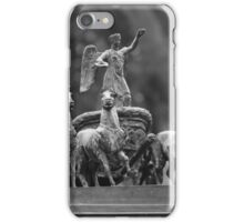horses in a chariot sculpture iPhone Case/Skin