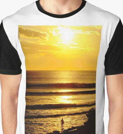 Sunset and a Surfer Graphic T-Shirt