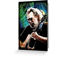 "Jerry Garcia- ""Birdsong"" Grateful Dead image Greeting Card"
