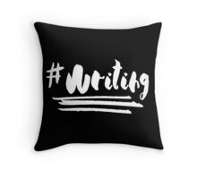 Writing (White) Throw Pillow