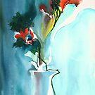 Flowers in Vase by Anil Nene