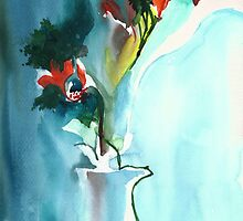 Flowers in Vase by Anil Nene