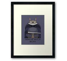 Totoro Night's Watch Framed Print
