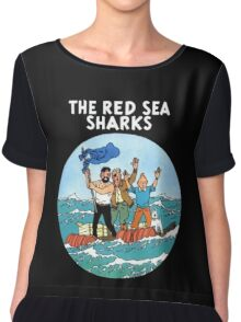 tintin and the red sea  Chiffon Top