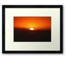 Psalm 65:8   The whole earth is filled with awe at your wonders; where morning dawns, where evening fades, you call forth songs of joy. Framed Print