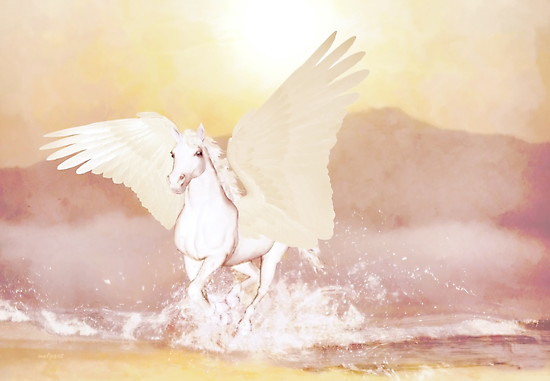 Pegasus'... by Valerie Anne Kelly