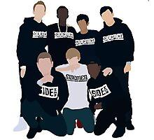 The Sidemen! - KSI, Harry, Ethan, Vik, Simon, Josh, Tobi. Photographic Print