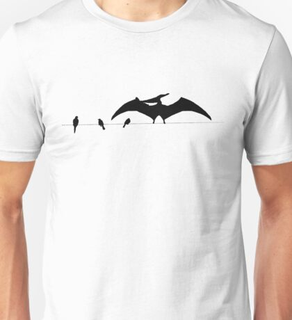 Bird on a wire white Unisex T-Shirt