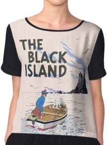 tintin the black island Chiffon Top