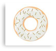 Gold Glitter Sprinkles Donut Canvas Print