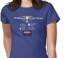 RAF - SPARKS VETERAN - SARCASM T-SHIRT Womens Fitted T-Shirt