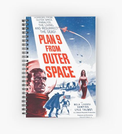 PLAN 9 from Outer Space Spiral Notebook