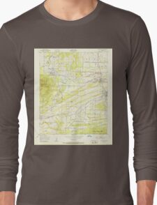 USGS TOPO Map Arkansas AR Huntington 258798 1951 24000 Long Sleeve T-Shirt