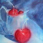 Cherries and Silver Jug by Deborah Pass