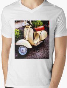 Retro Italian Scooter Mens V-Neck T-Shirt