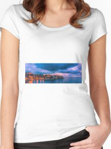 Waiting for dawn at Cala d'Enmig - panorama Women's Fitted Scoop T-Shirt