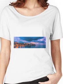 Waiting for dawn at Cala d'Enmig - panorama Women's Relaxed Fit T-Shirt