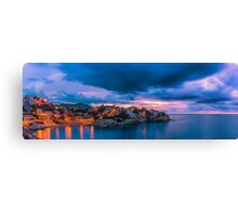 Waiting for dawn at Cala d'Enmig - panorama Canvas Print