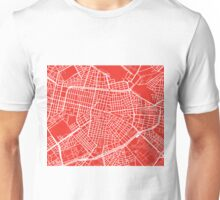 Sofia Map - Red Unisex T-Shirt