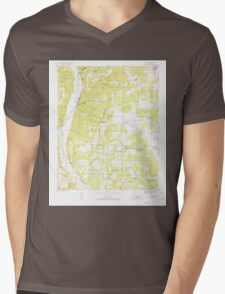USGS TOPO Map Arkansas AR Bethesda 257987 1942 24000 Mens V-Neck T-Shirt
