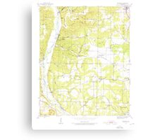 USGS TOPO Map Arkansas AR Bethesda 257987 1942 24000 Canvas Print