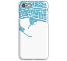 Cannes Map - Baby Blue iPhone Case/Skin
