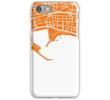 Cannes Map - Orange iPhone Case/Skin