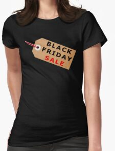 Black Friday Sale Tag Label With String Womens Fitted T-Shirt