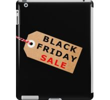 Black Friday Sale Tag Label With String iPad Case/Skin