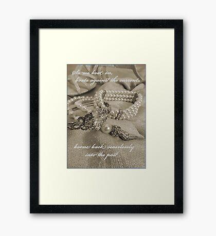 In Memory of Gatsby Framed Print