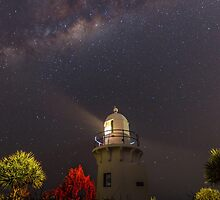 Fingal Lighthouse and Milky Way by Ann Pinnock