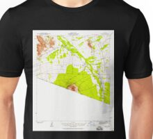 USGS TOPO Map Arizona AZ Vamori 315151 1941 62500 Unisex T-Shirt