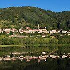 Saint Martial lake and village by Patrick Morand