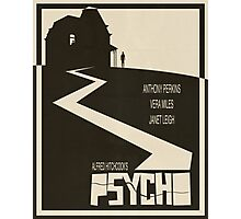 Psycho Movie Poster - Beige Version Photographic Print