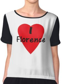 I Love Florence - I Heart Firenze T-Shirt Chiffon Top