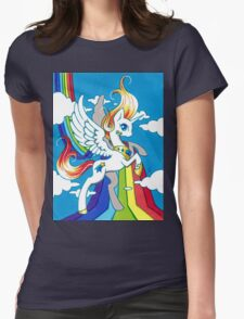 StarlyShow Rainbow Princess Womens Fitted T-Shirt