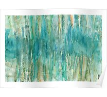 Abstract Undersea Caves Poster