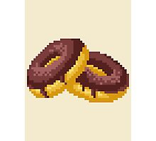 Pixel Food Series - Chocolate Donuts Photographic Print
