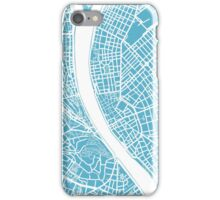 Budapest Map - Baby Blue iPhone Case/Skin