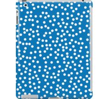Cute Bright Blue and White Polka Dots iPad Case/Skin