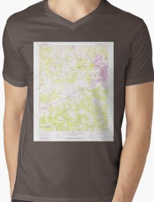 USGS TOPO Map Arkansas AR Mountain Home West 259156 1966 24000 Mens V-Neck T-Shirt