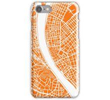 Budapest Map - Orange iPhone Case/Skin