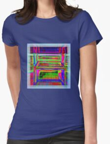 LAYERS OF COLOR WITH SEE-THROUGH BORDER Womens Fitted T-Shirt