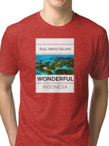 wonderful indonesia Tri-blend T-Shirt