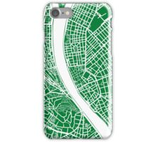 Budapest Map - Green iPhone Case/Skin