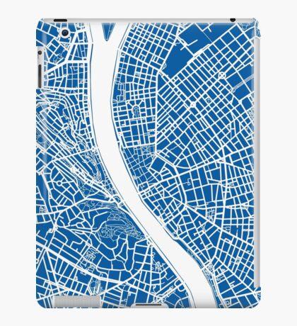 Budapest Map - Deep Blue iPad Case/Skin